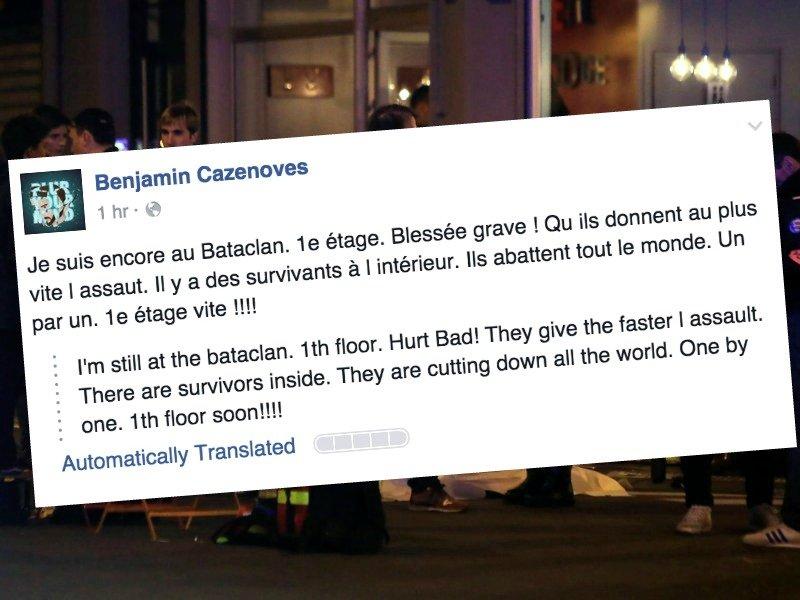 Zamachy we Francji: Relacja świadka