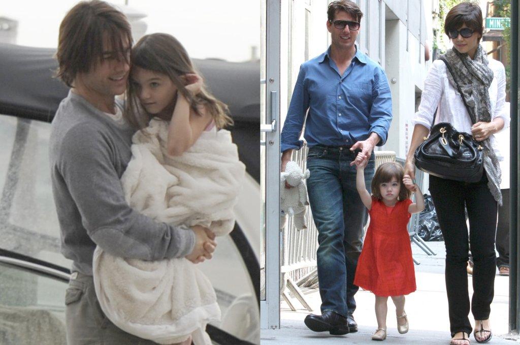 Tom Cruise z córką Suri i z byłą żoną, Katie Holmes