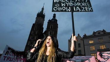 Czarny protest w Krakowie, 3 października 2016.