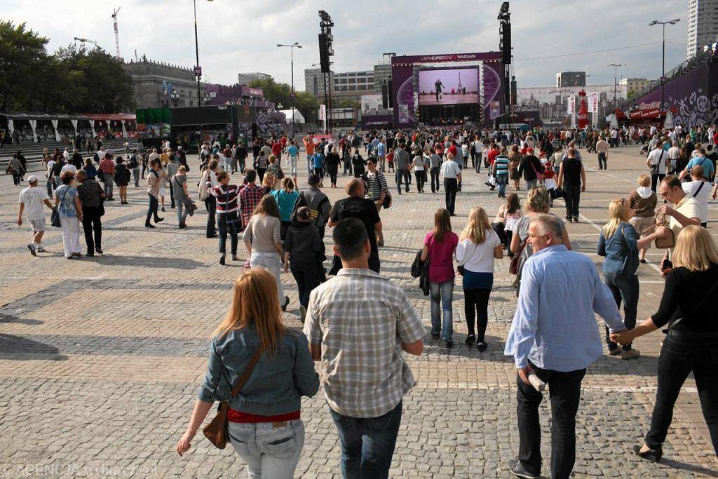 Otwarcie Strefy Kibica pod Pałacem Kultury