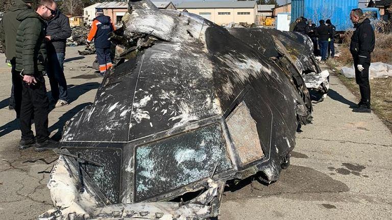 Zdjęcie ukraińskiego samolotu, który został zestrzelony pod Teheranem