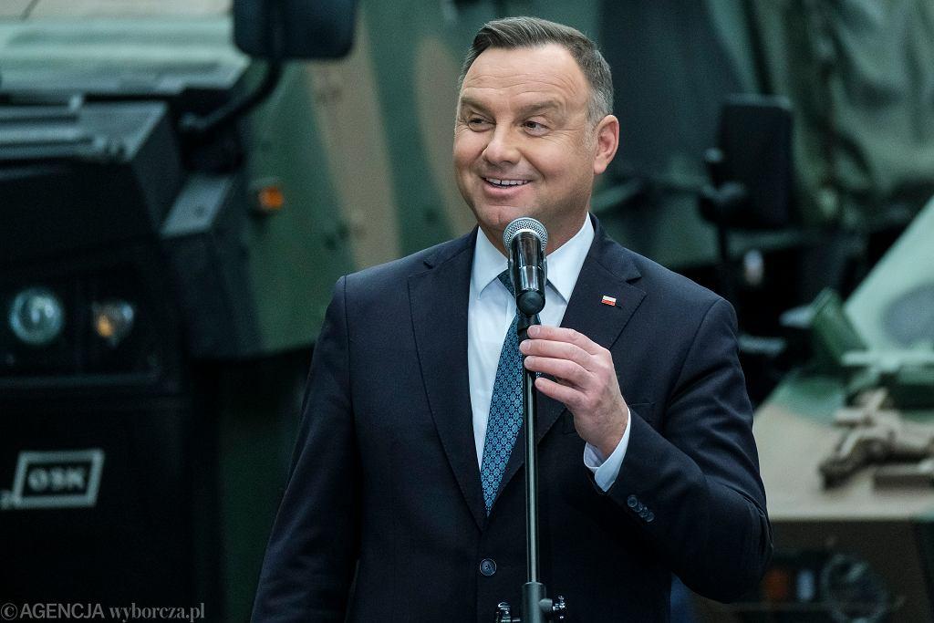 Andrzej Duda podczas wizyty w Stalowej Woli