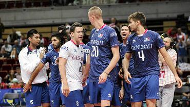 ME siatkarzy. Francja - Słowacja 3:0. Z nr 4 Antonin Rouzier