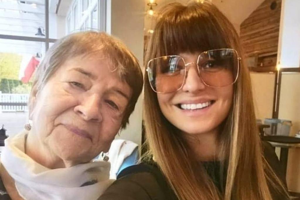 Anna Lewandowska z babcią