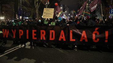 Demonstracja Strajku Kobiet w Warszawie