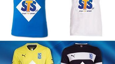 Koszulki Lecha Poznań z logiem bukmachera STS - wizualizacja