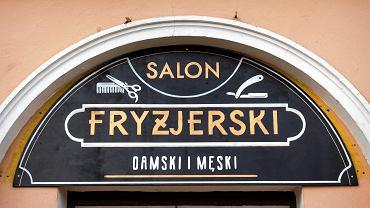 Szyld salonu fryzjerskiego