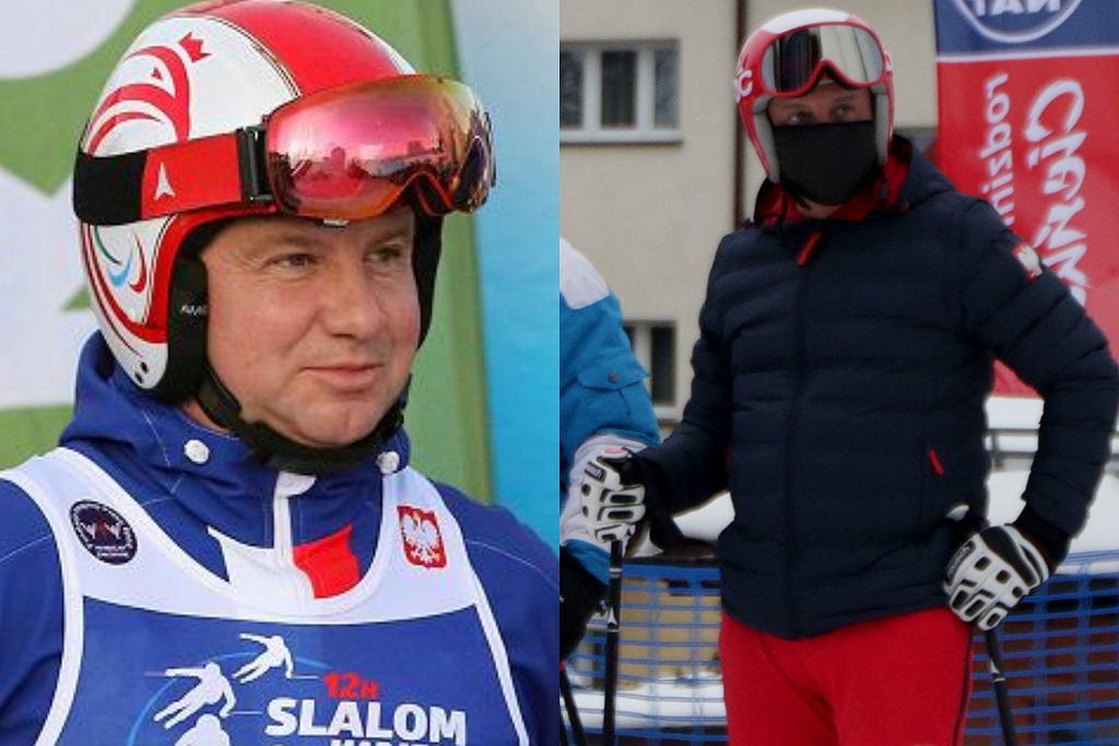 Prezydent Andrzej Duda na nartach