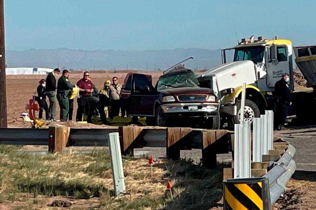 California wypadek na autostradzie