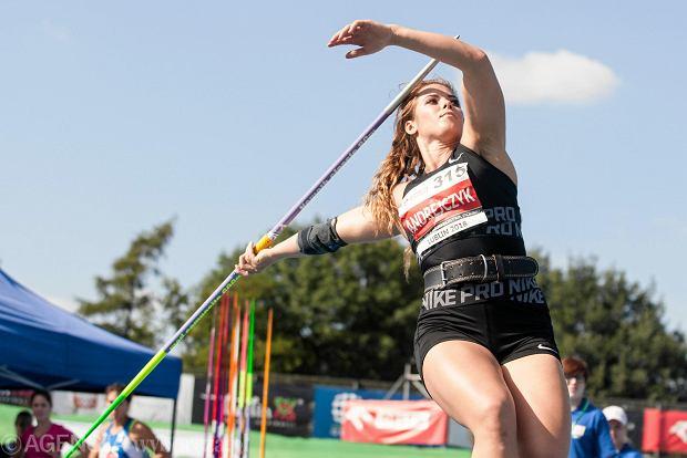 Maria Andrejczyk w trakcie 94. lekkoatletycznych mistrzostw Polski