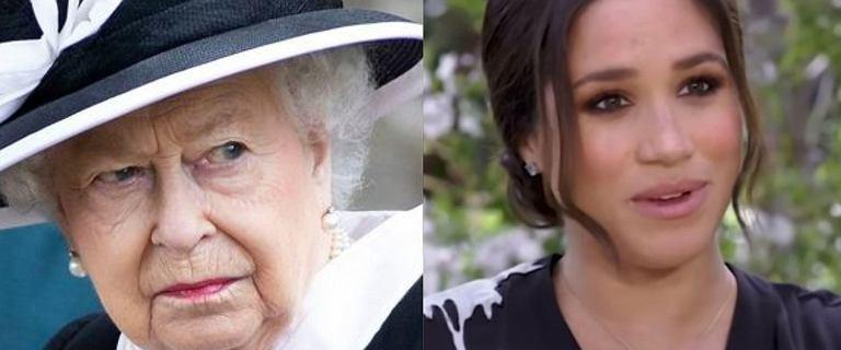 """Królowa Elżbieta II nie obejrzy wywiadu z Meghan i Harrym. """"Jest zdeterminowana"""""""