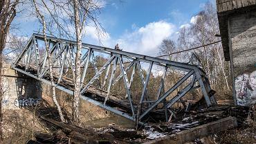 Rozbiórka mostu kolejowego nad Przemszą
