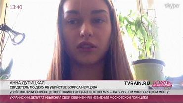 Anna Duricka udziela wywiadu na antenie niezależnej rosyjskiej telewizji Drożd