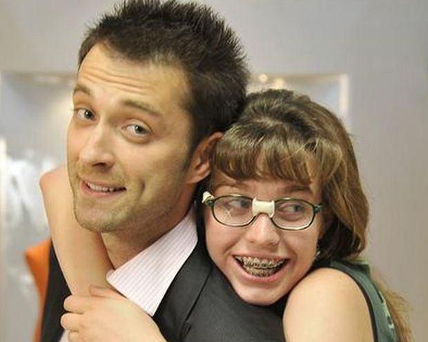 Filip Bobek i Julia Kamińska na planie