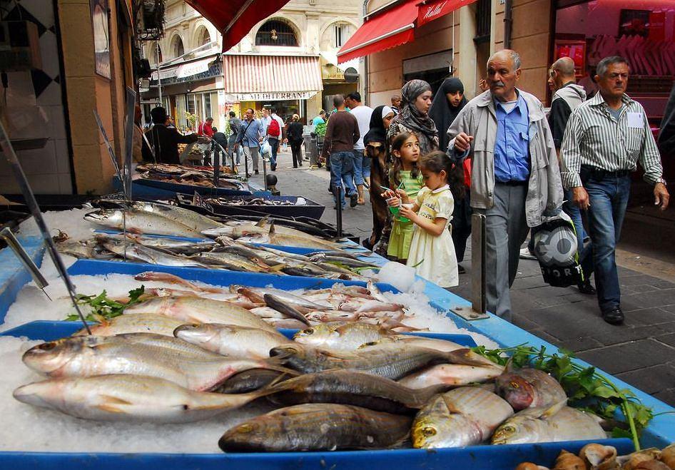 Francja-Prowansja. Marsylia - targ rybny w Marsylii