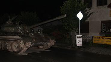 Czołg jechał ulicami Pajęczna