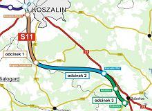 Budowa odcinka drogi ekspresowej S11 na odcinku Koszalin-Bobolice. Znamy oferty wykonawców i termin realizacji inwestycji