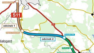 Planowany przebieg drogi S11