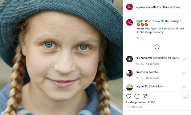 """Marcjanna Lelek zaczynała w """"M jak miłość"""" jako 9-latka. Teraz jest już młodą kobietą i bardzo się zmieniła"""