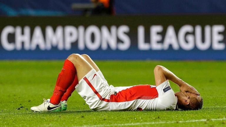 Kamil Glik podczas meczu półfinału Ligi Mistrzów pomiędzy Monaco i Juventusem