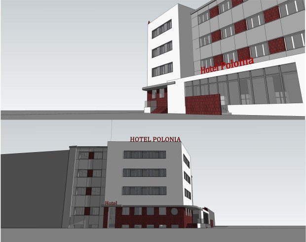 Wizualizacja Hotelu Polonia