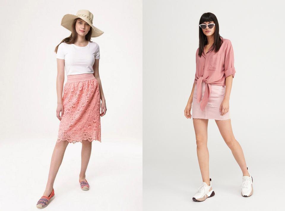 Spódnice w różowym odcieniu