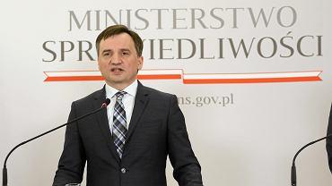 Konferencja ministra Zbigniewa Ziobry.