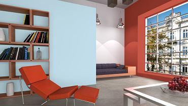 Czerwień i błękit - kontrastowe połączenie gorącego koloru z zimnym