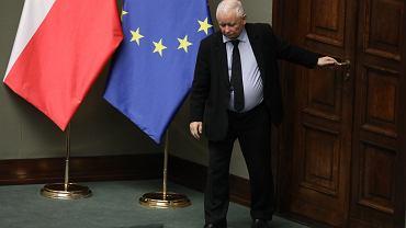 Jarosław Kaczyński w Sejmie (2021 r.)