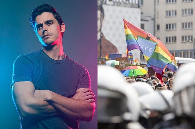 """Antoni Porowski, gwiazdor programu """"Queer Eye"""", odniósł się do zamieszek podczas Marszu Równości w Białymstoku."""