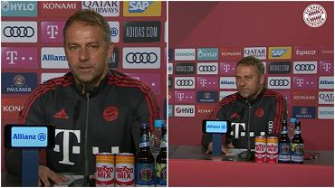 Hansi Flick podczas ostatniej przedmeczowej konferencji prasowej jako trener Bayernu