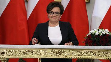Zaprzysiężenie rządu Mateusza Morawieckiego, na zdjęciu: minister edukacji Anna Zalewska