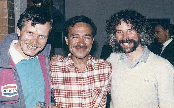 Bankiet w ambasadzie w 1989 roku, od lewej: Maciej Berbeka, Ashraf Aman, Alek Lwow