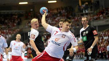 Rafał Gliński podczas meczu eliminacje MŚ piłkarzy ręcznych: Polska - Niemcy 25:24