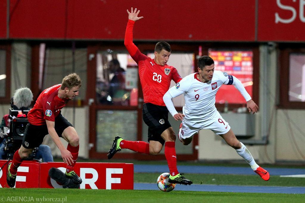 Mecz eliminacji Mistrzostw Europy Austria - Polska w Wiedniu