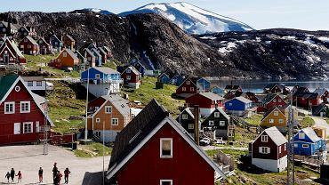 Miasteczko Upernavik w zachodniej Grenlandii