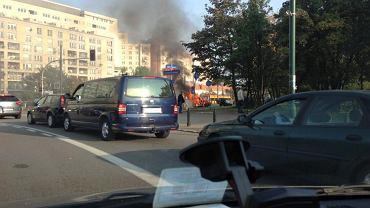 Pożar przy Rondzie Radosława