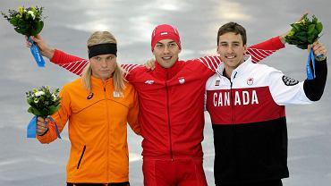 Od lewej: Koen Verweij, Zbigniew Bródka i Denny Morrison