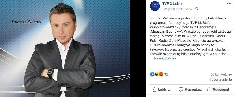 """Tomasz Zalewa - kim jest dziennikarz TVP? """"W razie potrzeby robi za małpę"""""""
