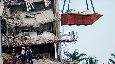Nadal ponad 150 osób uznaje się za zaginionych w katastrofie budowlanej w Miami