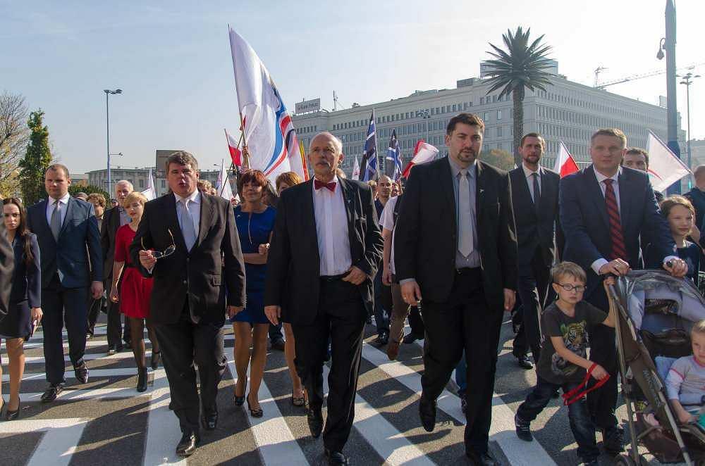 Marsz zwolenników Janusza Korwin-Mikkego przeszedł ulicami stolicy