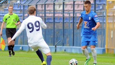 Kamil Szubertowski podczas sparingu pierwszej drużyny Lecha Poznań z Pogonią Szczecin (0:0)