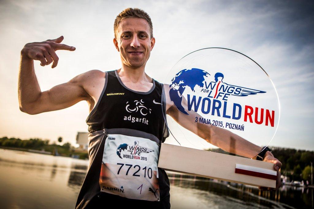 Bartosz Olszewski, zwycięzca Wings for Life World Run