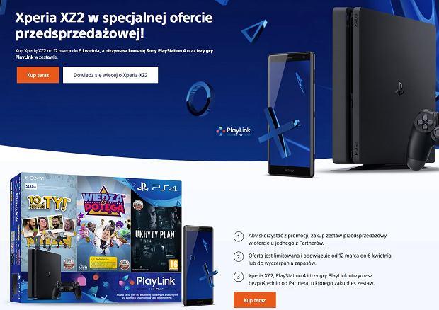 Sony Xperia XZ2 w ofercie przedsprzedażowej z konsolą PS4 Slim