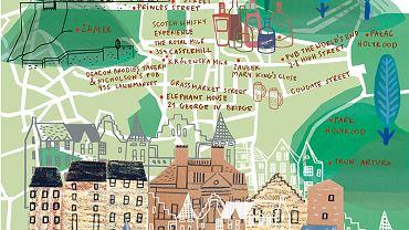 Edynburg, mapa