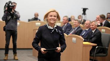 Małgorzata Jacyna-Witt podczas pierwszej sesji sejmiku