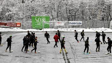 Zimowy trening GKS-u Katowice w 2012 roku