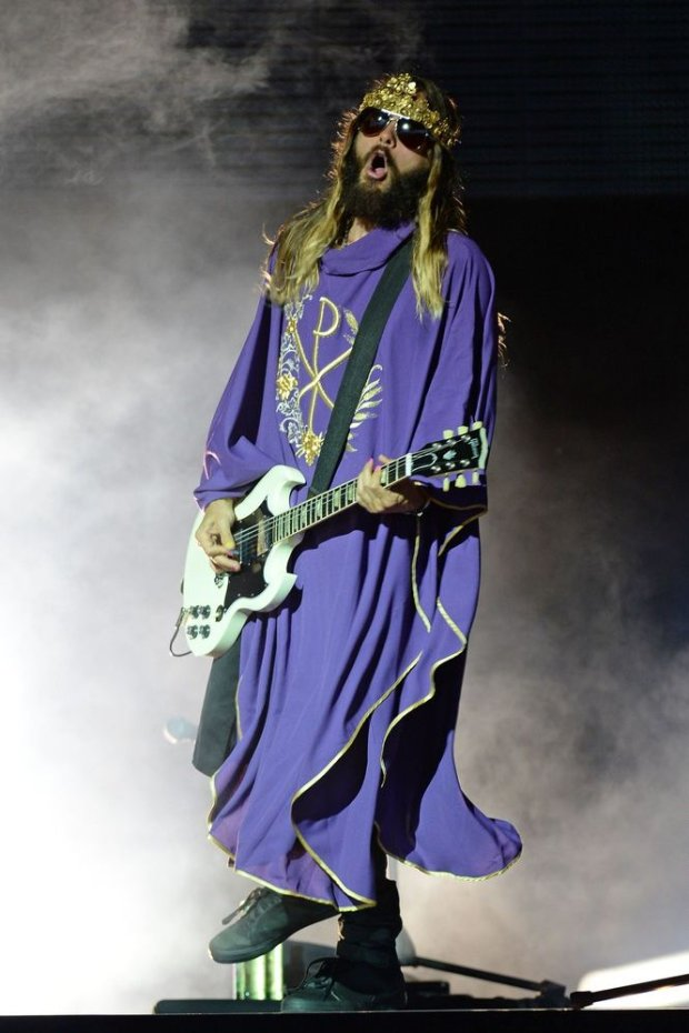 Mandatory Credit: Photo by MediaPunch/REX (4072702a)  Thirty Seconds to Mars - Jared Leto  Thirty Seconds to Mars in concert at the Cruzan Amphitheatre, West Palm Beach, America - 08 Aug 2014