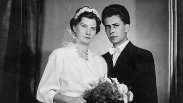 Anna (Hanka) i Aleksander (Olek) Tworowscy. Zdjęcie ślubne
