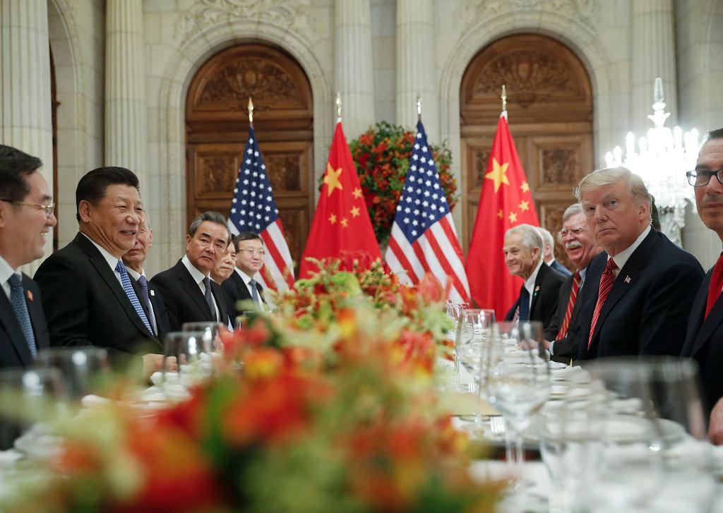 Donald Trump i Xi Jinping podczas rozmów ws. wojny handlowej na szczycie G20